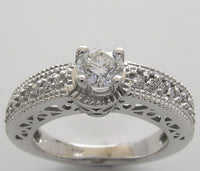 Diamond Engagement Ring Setting for a diamond 4.00 mm Center Diamond
