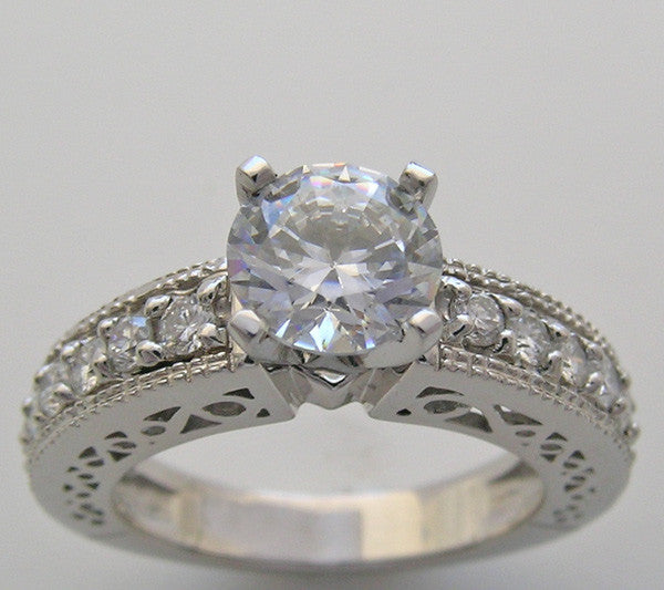 DIAMOND ENGAGEMENT RING SETTING FOR ALL SIZE AD DIAMOND SHAPES