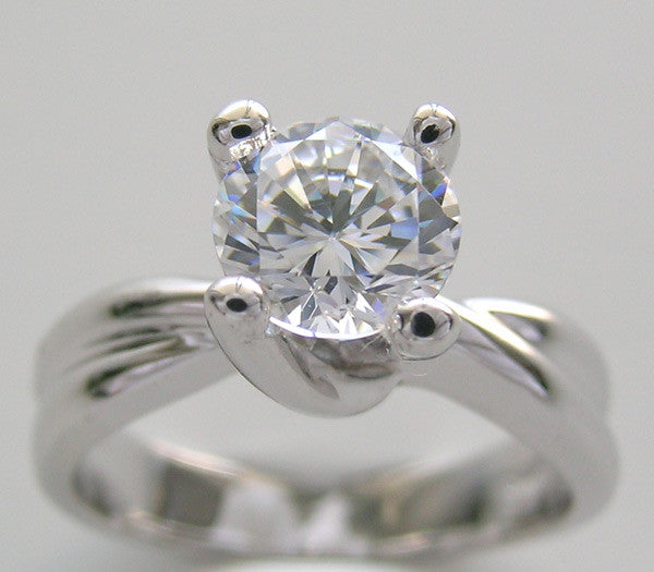 Solitaire Engagement Ring Setting Set for a 1.00 Carat Round Diamond