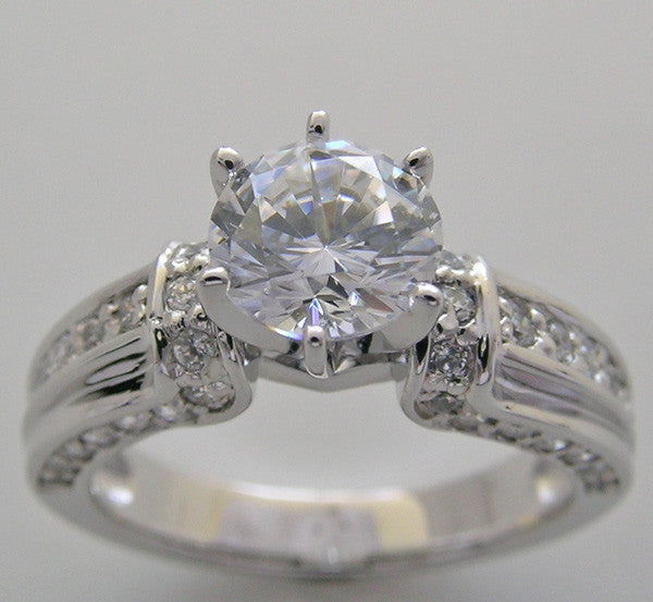 MICRO PAVE DIAMOND ENGAGEMENT RING SETTING