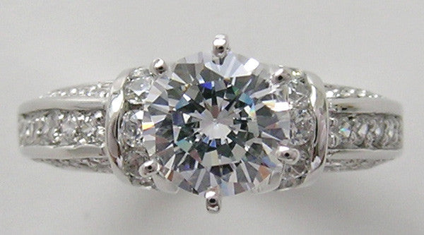 UNUSUAL DIAMOND ACCENT ENGAGEMENT RING SETTING FOR ALL SHAPES AND SIZES