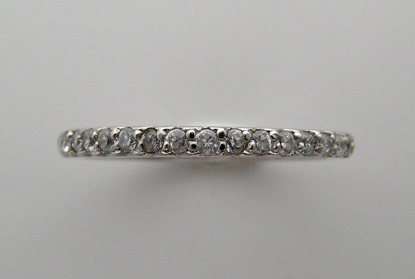 FEMININE DIAMOND WEDDING BAND RING OR STACKABLE RING
