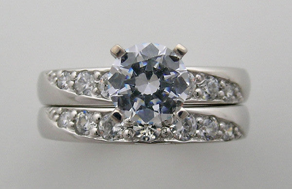 14K Diamond Engagement ring setting set
