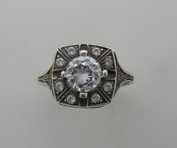 14K Ring Setting Antique Style