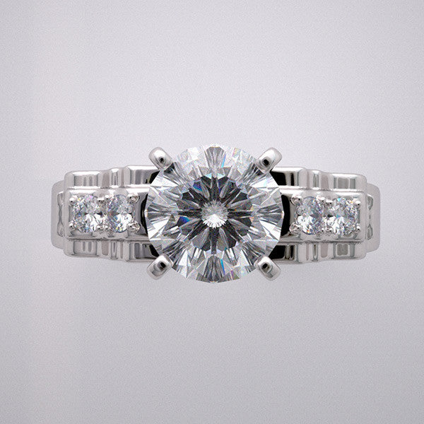 NON TRADITIONAL DIAMOND ENGAGEMENT RING SETTING VINTAGE STYLE