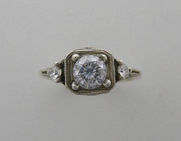 INTERESTING EDWARDIAN  ANTIQUE STYLE RING SETTING