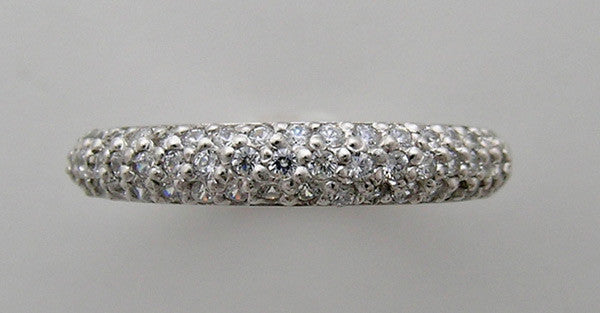 14K DIAMOND PAVE WEDDING BAND