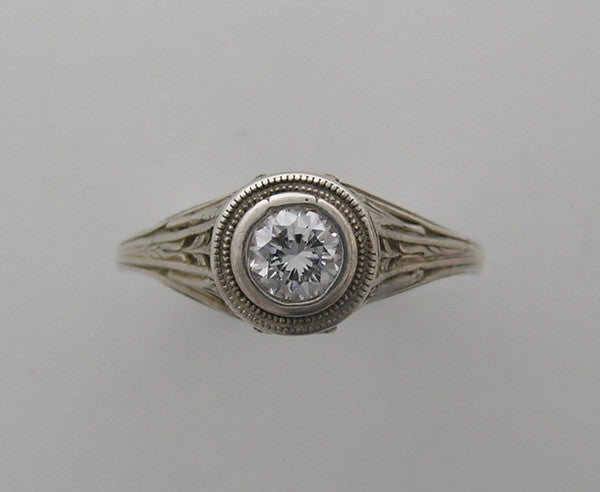 Gold Bezel Set Vintage Ring Setting