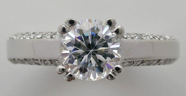 PRETTY DIAMOND STUDDED ENGAGEMENT RING SETTING