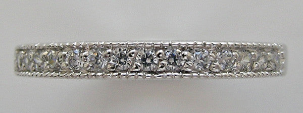 DIAMOND ETERNITY WEDDING RING MIL GRAIN DETAILS
