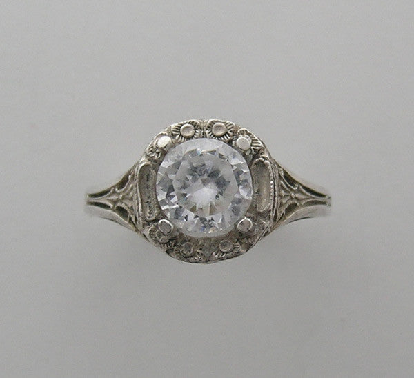 FEMININE ART DECO STYLE FILIGREE RING OR ENGAGEMENT RING SETTING