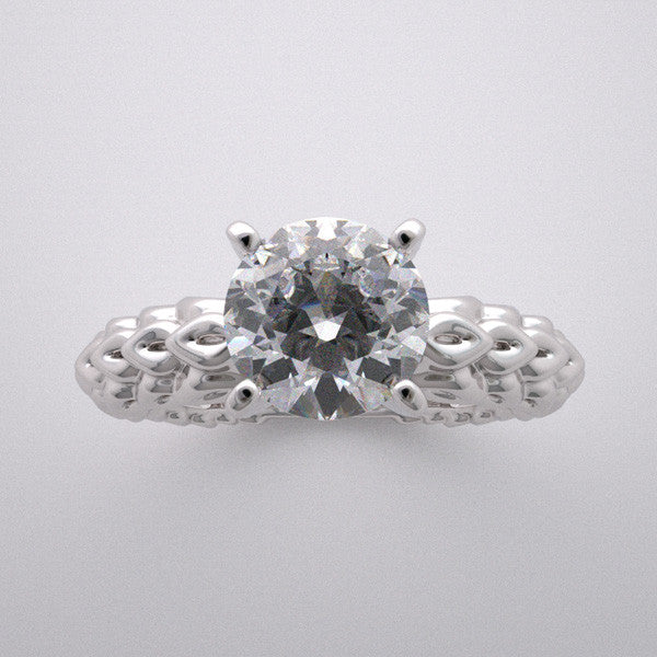 ENGAGEMENT RING SETTING WITH LOVELY INTERESTING TEXTURED FINISH