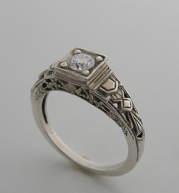 Vintage Style Ring Setting For 5.0mm Gem