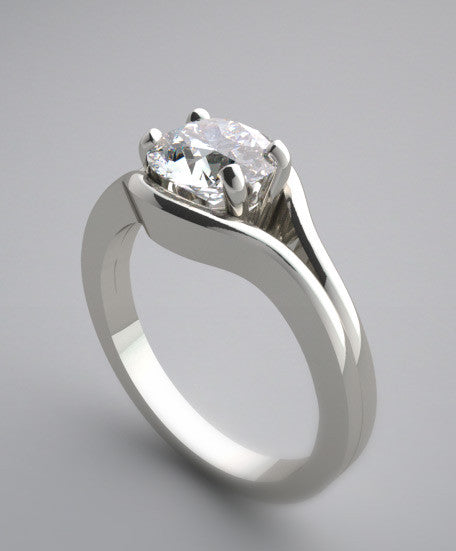 ELEGANT SPLIT SHANK SOLITAIRE ENGAGEMENT RING SETTINGS
