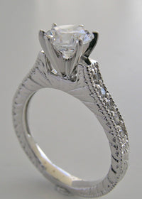 EXCLUSIVE BEAUTIFUL DIAMOND ENGAGEMENT RING SETTING