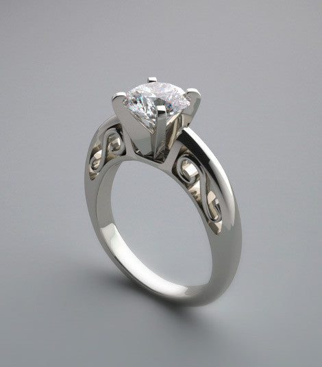 ENGAGEMENT RING SETTING TIMELESS SWIRL DESIGN DETAILS