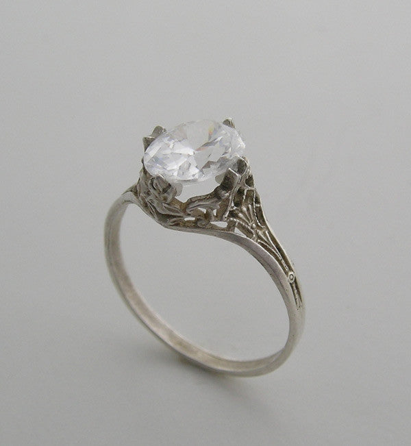 Gold Filigree Engagement Ring Setting