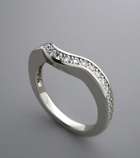 ELEGANT DIAMOND BRIDAL WEDDING BAND