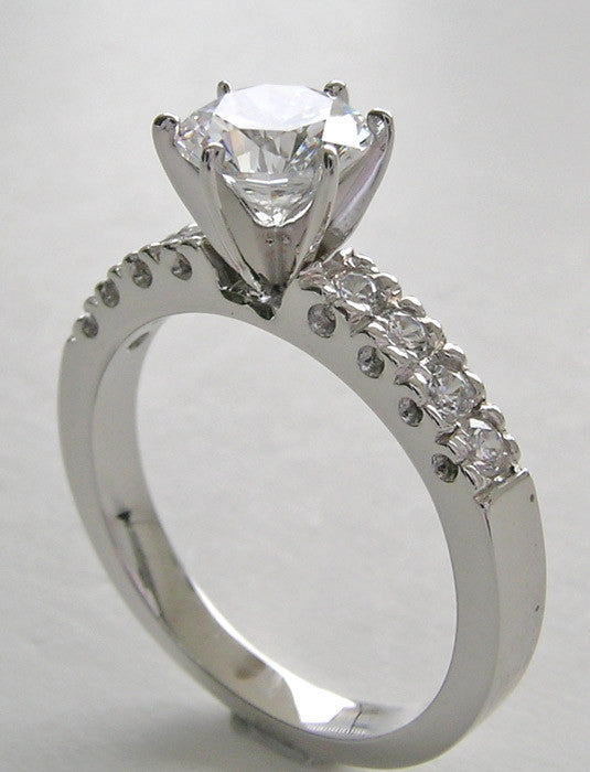 ENGAGEMENT RING SETTING WITH DIAMOND VINTAGE FISHTAIL ACCENTS