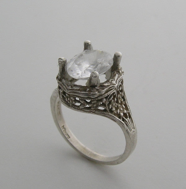 IMPORTANT ART NOUVEAU ANTIQUE STYLE FLORAL DESIGN RING