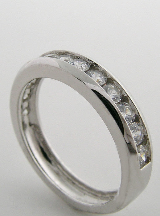 ETERNITY CHANNEL SET DIAMOND WEDDING BAND RING