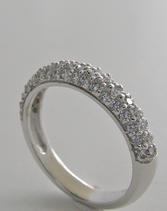 SPECIAL DOME PAVE DIAMOND WEDDING BAND RING