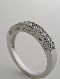 FEMININE  DIAMOND WEDDING BAND RING