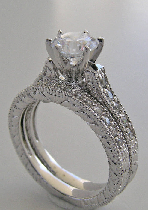 OUTSTANDING DIAMOND ENGAGEMENT RING SETTING SET