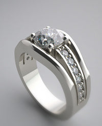 CLASSICAL DUAL DIAMOND ACCENTED ENGAGEMENT RING SETTING