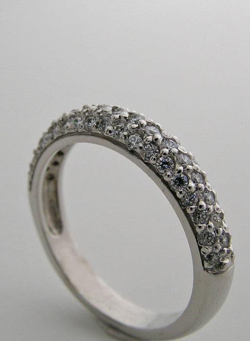 platinum DIAMOND PAVE WEDDING BAND