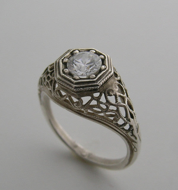14k Old World Ring Setting
