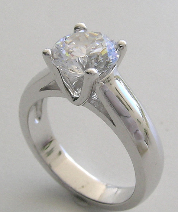 Solitaire Round Stone Ring Setting
