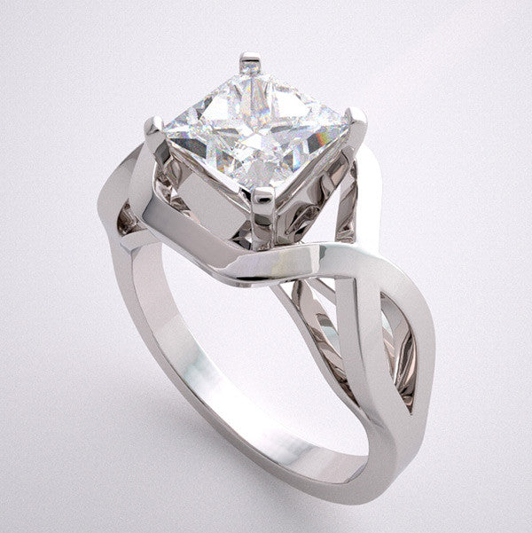 NON TRADITIONAL DECO STYLE ENGAGEMENT RING SETTING FROM THE ARCHITECTURAL DESIGN COLLECTION