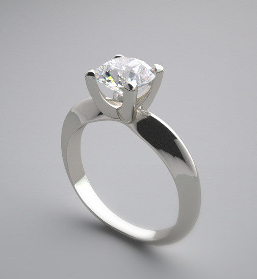 SLEEK SOLITAIRE KNIFE EDGE CONTEMPORARY ENGAGEMENT RING SETTING
