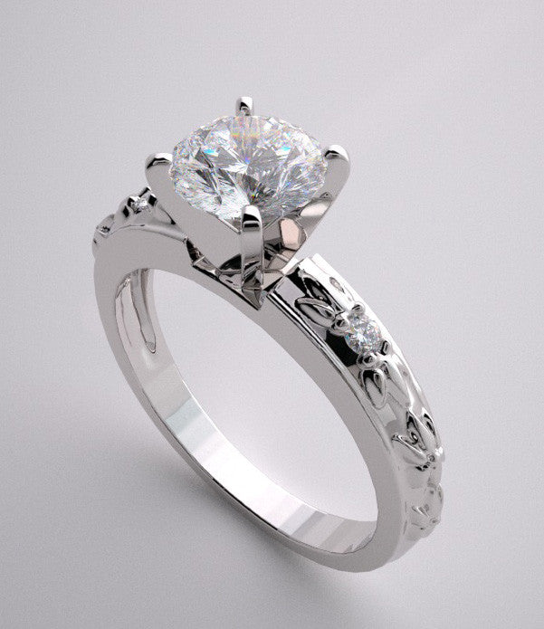 UNIQUE ENGAGEMENT RING SETTING DIAMOND ACCENTED