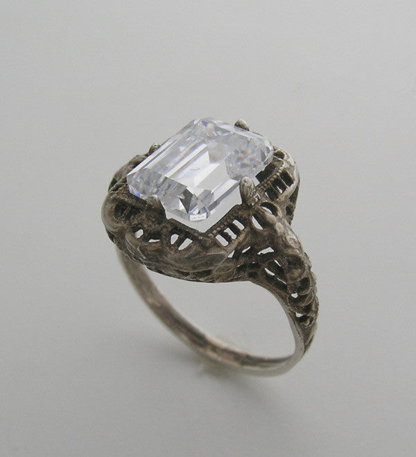 14K GOLD OLD WORLD DESIGN FILIGREE RING SETTING