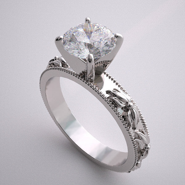 ENGAGEMENT RING SETTING FLOWER  BLOSSOM DESIGN