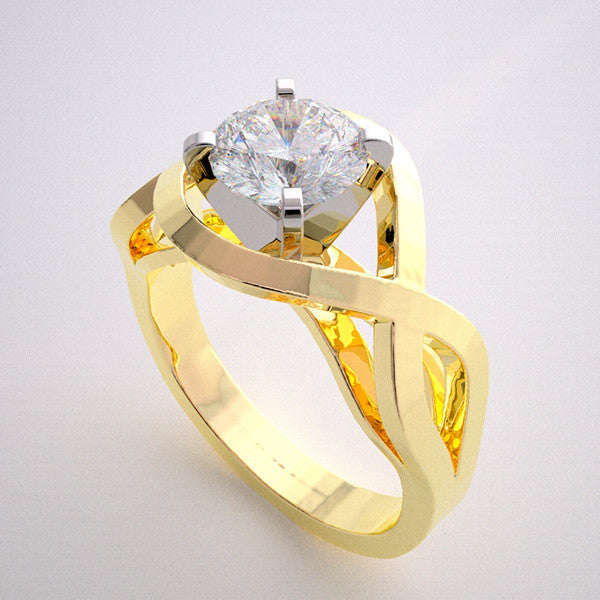 MODERN NON TRADITIONAL ENGAGEMENT RING SETTING ARCHITECTURAL DESIGNING WITHOUT STONES