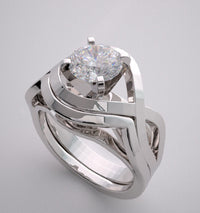 CONTEMPORARY DIAMOND ENGAGEMENT RING SETTING