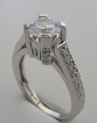 GOLD OR PLATINUM UNUSUAL DIAMOND ENGAGEMENT RING SETTING