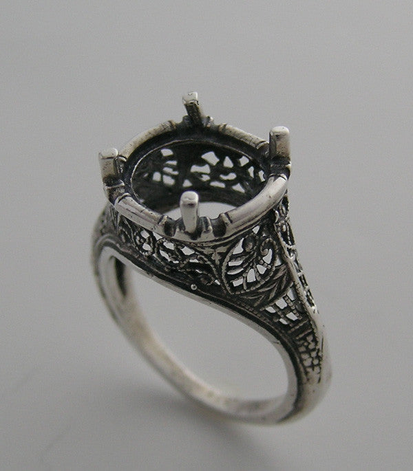 Antique Ring Setting Round 10.00 MM