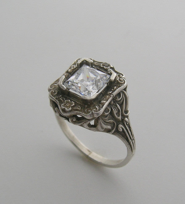 Gold Art Nouveau Style Ring Setting