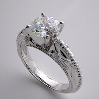 DESIGNER ENGAGEMENT RING SETTING FLORAL AND DIAMOND DETAILS