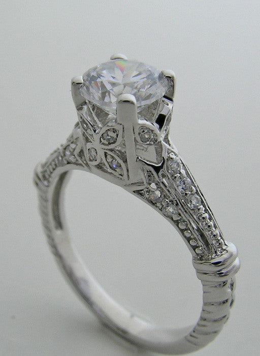 SPECIAL ENGAGEMENT RING SETTING OR REMOUNT DIAMOND ACCENTS