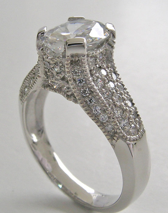UNIQUE OVAL SHAPE DIAMOND ENGAGEMENT RING SETTING