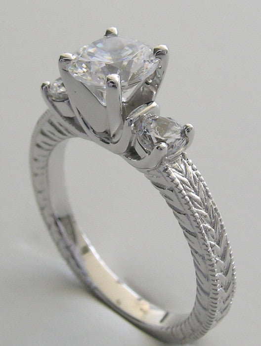 THREE STONE ENGAGEMENT RING SETTING