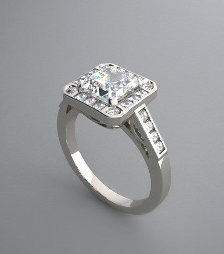 DIAMOND ENGAGEMENT RING SETTING TRENDY ANTIQUE VINTAGE STYLE DESIGN