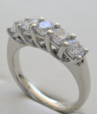 ELEGANT FIVE STONE DIAMOND WEDDING RING