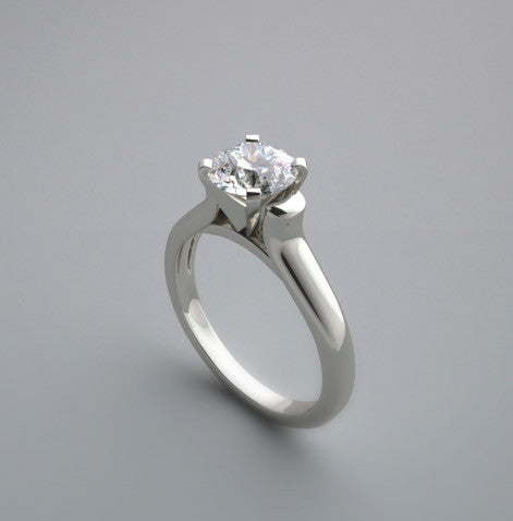 White Gold Unique Solitaire Ring Setting