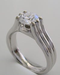 UNIQUE SIX PRONG ATTRACTIVE ENGAGEMENT OR REMOUNT  RING SETTING